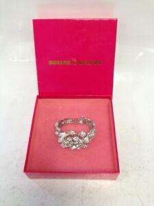 Butler And Wilson Crystal Leaf Design Bracelet #768