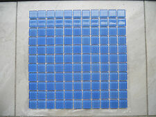 Crystal Glass Mosaic Tiles - #F174 Sky Blue - Pool / Water Line / Feature Wall