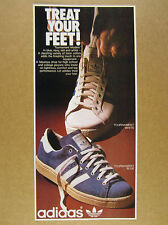 1975 Adidas TOURNAMENT White & Blue Shoes color photo vintage print Ad
