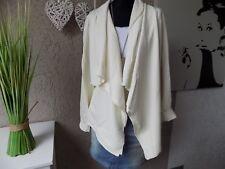 HEINE Zipfel Shirtjacke offwithe Gr. 50 NEU Jacke Style casual Blazer (84b)