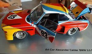 """BMW / MINICHAMPS / BMW 3.0 CSL Art Car / 1:18 / """"Alexander Calder"""" 1975"""