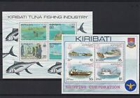 kirbati mint never hinged  tuna fishing & shipping stamps sheets ref r12595