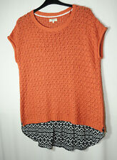ORANGE  BLACK LADIES CASUAL JUMPER SIZE XL PAPAYA