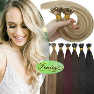 Keratin Bond Nano Ring Tip Hair Extensions Nano Micro Beads Link Remy Human Hair