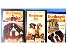 BEETHOVEN 1st, 2nd, 3rd VHS * NEVER RENTALS * PLAY GREAT