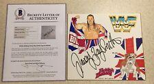 Davey Boy Smith The British Bulldog WWF WWE Original Art Signed Autograph BAS