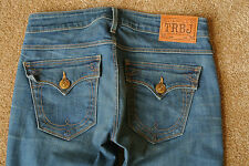 TRUE RELIGION RAEGAN Jeans 26X37 NWOT$300 Sexy! Distressed Wash! Flare Leg!
