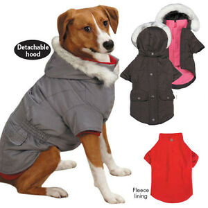 3 in 1 Dog Coat Jacket Removable Hood & Fleece Lining Pet CLOSEOUT PRICES