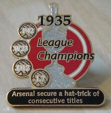 ARSENAL Victory Pins 1935 LEAGUE CHAMPIONS Danbury Mint badge 34mm x 40mm