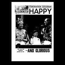 Miniatura Dollshouse GIORNALE-Daily Mirror - 1953 Incoronazione