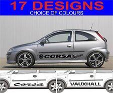 Opel Corsa Aufkleber Sticker GSI VXR SXI SRI 2 Stück Grafiken Designauswahl