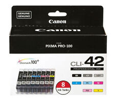 Genuine Canon CLI-42 (8 Colors BK, GY, LGY, C, PC, M, PM, Y) for Pixma Pro-100