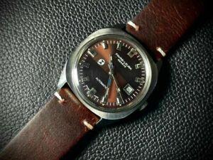 Vintage Favre Leuba Geneve Brown Dial Automatic Gents Watch, Perfect