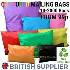 More details for coloured mailing bags strong polythene postage plastic postal mail seal all size