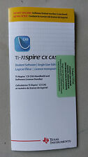 TI-NSpire CX CAS Student Software Single-User License NSCSX/PP/KT/2L1/B