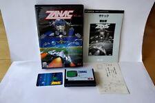 ZANAC MSX MSX2 Game cartridge,Manual,Boxed set tested -a527-