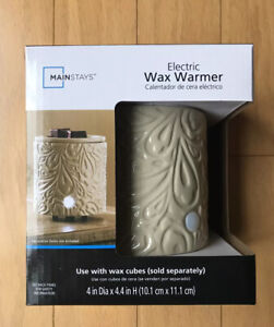 Mainstays Ivory Electric Wax Warmer For Wax Cubes 4in Dia x 4.4in H NEW
