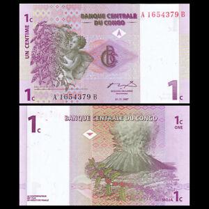 Congo Democratic Republic 1 Cent, 1997, P-80, Banknote, UNC