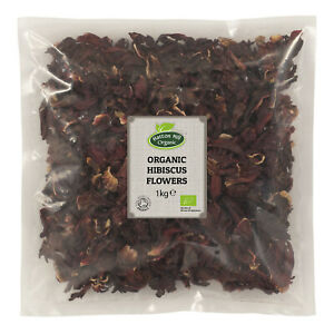 Organic Hibiscus Flowers Whole Petals Loose Tea Certified Organic