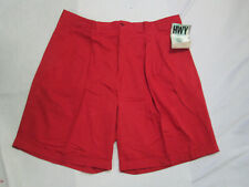 Womens Shorts red cotton designer dress shorts waist 46 x 10 NEW HWY Zydeco