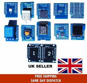 WeMos D1 Mini, Mini Pro Compatible & Shields, UK Stock