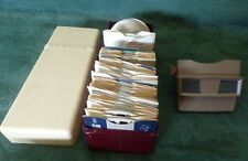 VIEWMASTER LOT VIEWER, CASE, 200+REELS, 18 SET SLEEVES, 27 BOOKLETS