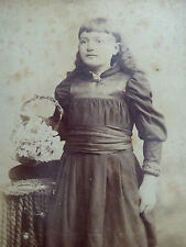 Victorian Cabinet Card Photograph with Inscripition