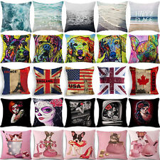 18'' square Ghost bride Pillow Case Linen Cotton Sofa Car Chair Home Decoration