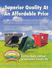 Dump Hoppers for Forklifts- 2 Yd. 4K Cap.