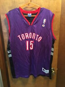 Vince Carter Toronto Raptors Jersey 2 Tone Champion Authentic 44
