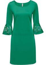 Kleid mit Cut-Outs Gr. 44/46 Grün Damen-Mini-Abend-Party-Cocktailkleid Neu*