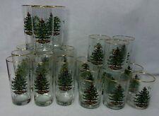 Spode glassware Christmas Tree 24-pc Set 12 Highballs & 12 Double Old Fashioneds