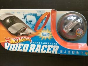 Hot Wheels Video Racer Micro Camera Car w/ LCD Screen Silver Red NEW