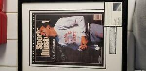 Joe Montana autographed Sports Illustrated magazine cover upper deck