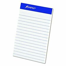 """Ampad 20-208 Evidence 3"""" x 5"""" Narrow Perforated Writing Pads - White"""