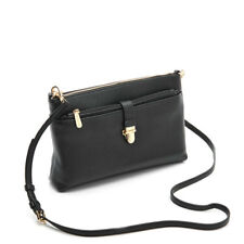 Michael Kors Snap Pocket Large Black Leather Crossbody Bag Purse with Pouch $198