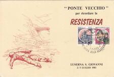 8887) PONTE VECCHIO, LUSERNA S. GIOVANNI, 40° ANNIVERSARIO DELLA RESISTENZA.