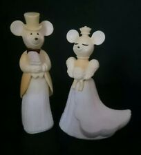 Vintage Wedding Bride and groom (Avon bottles Mice) wedding cake topper  VGC