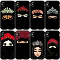 Luxury Woman Arabic Hijab Girl Queen Crown Phone Case For iPhone XS 11 Pro 6 7 8