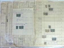 SYRIA 1920 - 1925 FRENCH OTTOMAN 9 DOC. W/ 103 ADPO REAL ESTATE REVENUE STAMPS