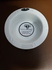 Platinium Pets 1 Cup Tripod Saucer Feeder With Wide Rimmed Bowl, White