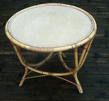 Table basse en bambou années 50