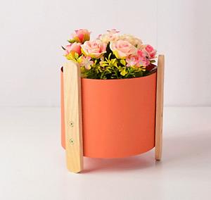 Metal Flower Pot Iron Succulent Planter Vase Decoration Desktop Stand Ornaments