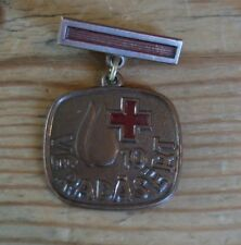Vintage Hungarian blood donating  bronze/red coloured medal (10 times)