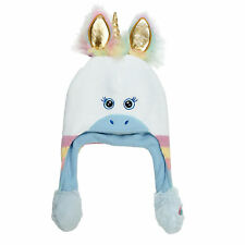 ABG Accessories Unicorn Squeeze and Flap Fun Winter Hat, Little Girls, Age 4-7