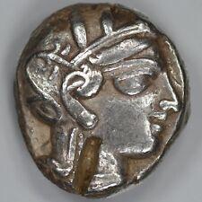 ATHENS OWL GREECE TETRADRACHM VF WITH TEST CUTS (9831)