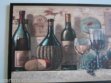 Wine Wall Plaque elegant kitchen decor grapes cheese french italian tuscan