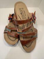 L'Artiste Spring Step Mabel Slide Sandals Size 8 38 NEW Without Box