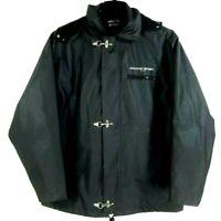 Nautic Sport Fleece Lined Hooded PVC Rain Jacket Coat Heavy Men's Sz XL Sailing