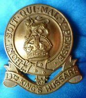 14th Kings Hussars Cap Badge BRASS 2 Lugs ANIQUE Original